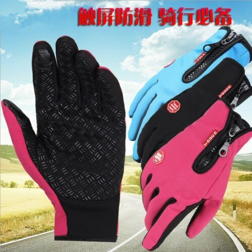 UK Men/'s Women Waterproof Driving Gloves Winter Ski Snow Warm Full Finger