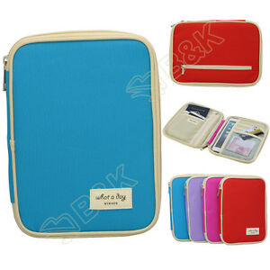 travel organizer bag money passport card document holder wallet handbag 7 9 inch ebay. Black Bedroom Furniture Sets. Home Design Ideas
