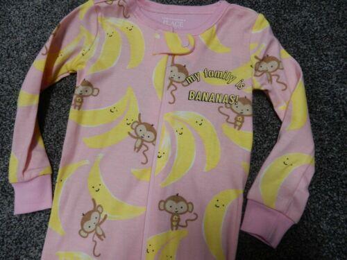 Novo COM ETIQUETAS TAMANHOS 5 a família Childrens Place Macaco Bananas stretchie Pijamas Sleeper