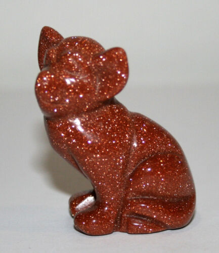 "Goldstone Chihuahua Carved Dog Figurine 30gr 1 5//8/"" x 1 1//2/"" B37a 22615"