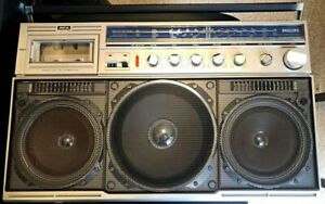 Vintage-Philips-Magnavox-D8443-Power-Player-Stereo-Radio-Cassette-Boombox