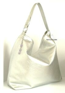 e56f123d0a9 Image is loading MARIAH-CAREY-DESIGNER-SILVER-TOTE-SLOUCH-SHOULDER-BAG-