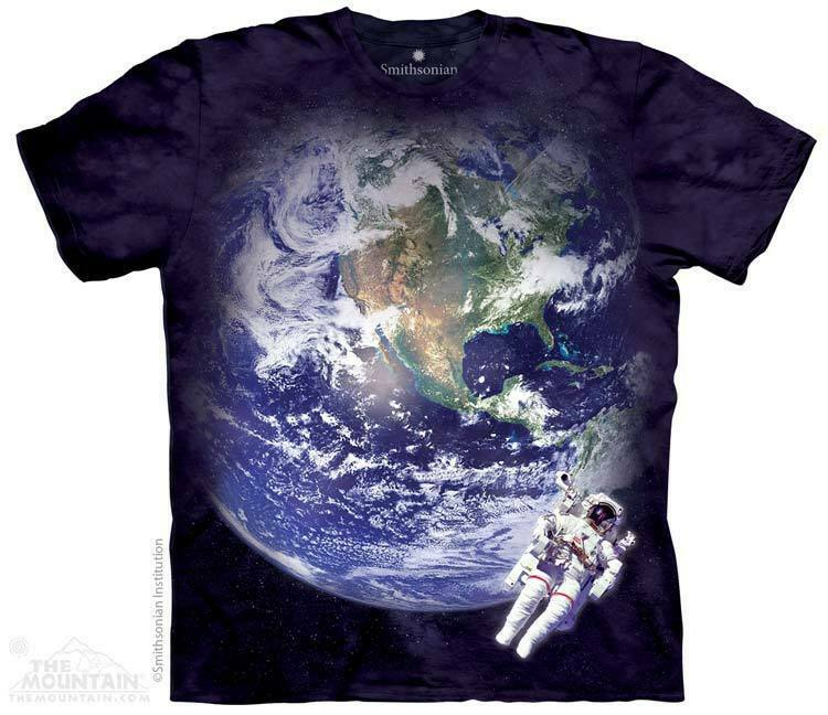 NEW ASTRO EARTH Astronaut Solar System Space The Mountain T Shirt