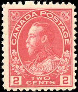 1917-22-Canada-Mint-NH-2c-F-Scott-106-KGV-Admiral-Issue-Stamp