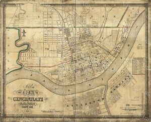 Details about HUGE Historic 1838 City of Cincinnati OHIO Street WALL on map of of ohio, large maps of ohio with rivers, travel map of ohio, business map of ohio, general map of ohio, printable road map of ohio, transportation map of ohio, military map of ohio, reference map of ohio,