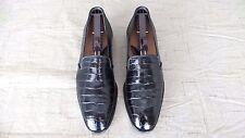 RARE $1000+ MAURI Black Crocodile Alligator Loafers Dress Shoes Boots Polo