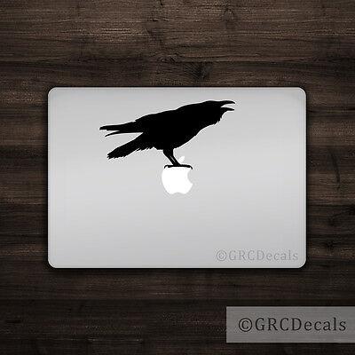 Mac Apple Logo Laptop Vinyl Decal Sticker Macbook Animal Crow Bird Cute Raven