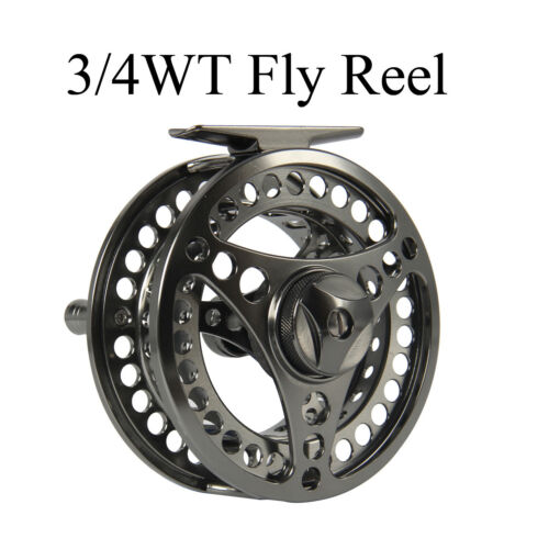 Fly Fishing Reel 3//4 5//6 7//8 9//10WT  Aluminum CNC Machined Large Arbor Fly Reel