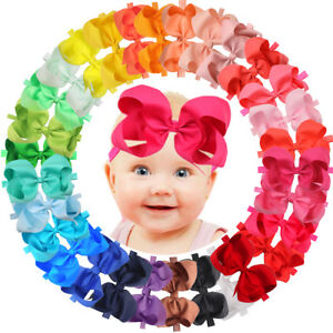à Condition De 30pcs 6 In (environ 15.24 Cm) Ruban Bébé Fille Bandeaux Gros-grain Ruban Big Hair Bows For Infant-afficher Le Titre D'origine