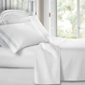 Egyptian Comfort 1800 Count 4 Piece Deep Pocket Bed Sheet Set King White