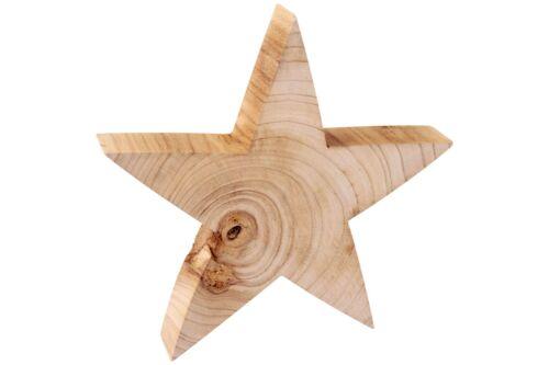 Holzstern natur Maserung 28cm Weihnachten Stern Holz Advent Deko Massivholz NEU