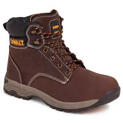 DeWalt Carbon Nubuck Leather Brown Safety Steel Toe Cap Boots Sizes 6-8-10