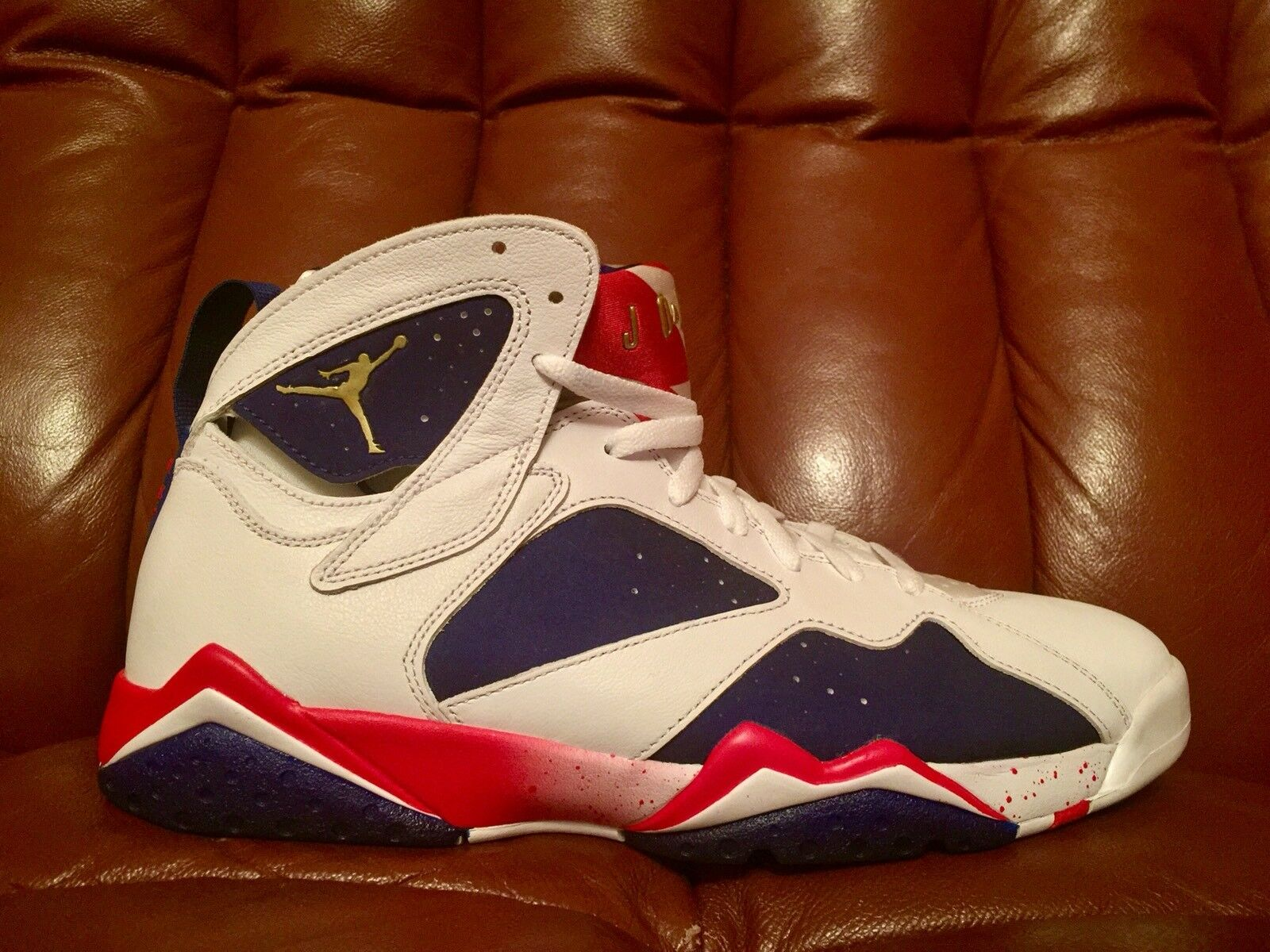 The latest discount shoes for men and women DS Nike Air Jordan VII 7 Retro Tinker Alternate Olympic Men's Comfortable