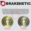 FRONT + REAR BRAKENETIC SPORT Cross DRILLED Brake Disc Rotors BSR78398
