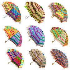 Lot of 5 Pcs Bohemian Parasols Indian Hippie Umbrellas Decor Wholesale Lot