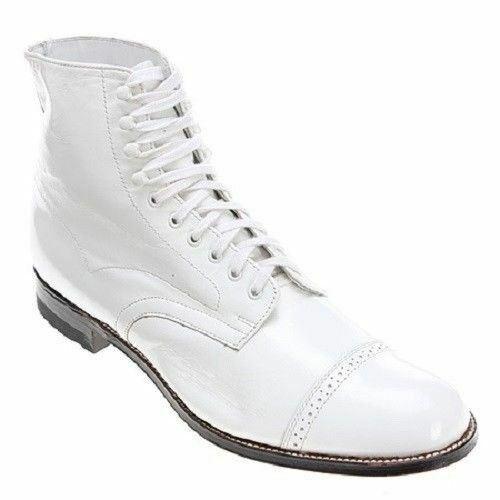 Stacy Adams Men's Madison Cap Toe avvio bianca 00015-100