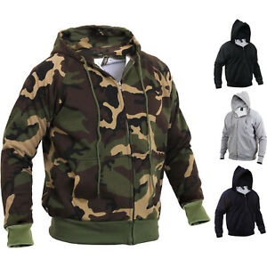 Image is loading Tactical-Thermal-Hoodie-Camo-Zipper-Sweatshirt -Comfortable-Waffle- 9f5182b4ae6