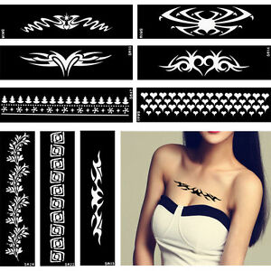 Heart Flower Lace Design Henna Tattoo Bracelet Jewelry Stencil