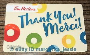 tim hortons gift card thank you merci 2017 brand new no value