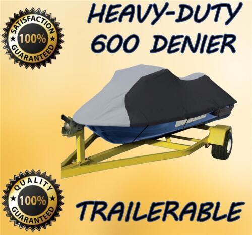 600 DENIER Polaris Virage Jet Ski Trailerable Cover Black//Grey 2000 01 02 03