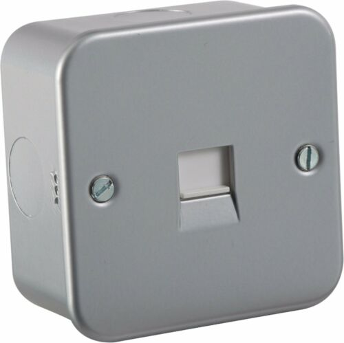 Metal Clad Telephone Master Flush Wall Socket For Home /& Business Networks