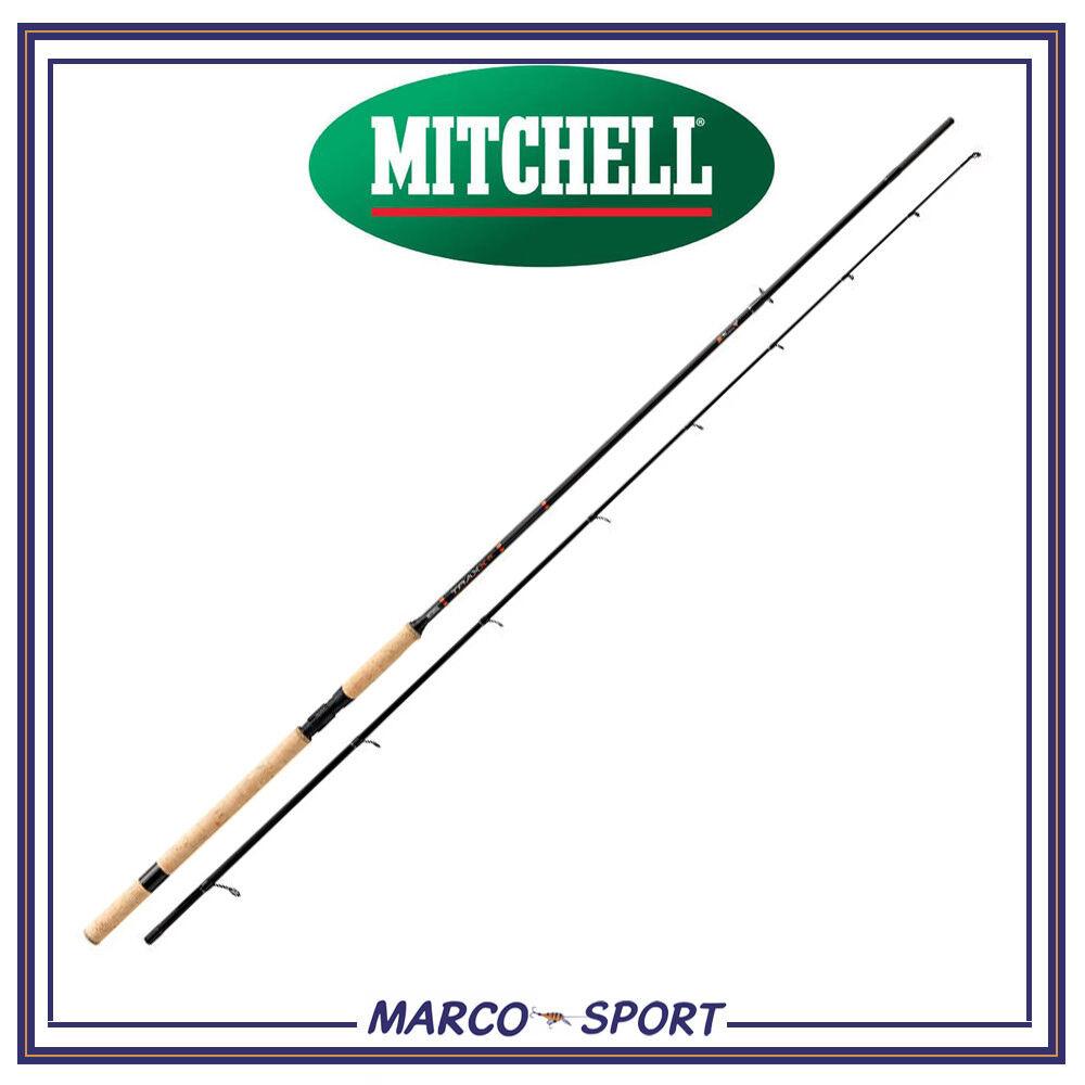 Canna da pesca Mitchell Traxx a spinning in carbonio per mare fiume lago e bass
