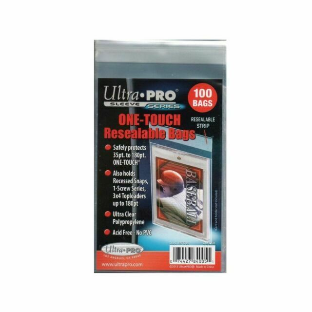 Ultra Pro One-Touch Horizontal Booklet Card Resealable Bag44; 50 Count