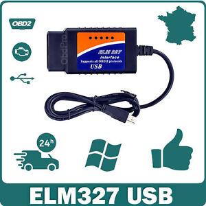 interface elm 327 obd2 usb v1 5 diagnostic multi marques logiciel en fran ais ebay. Black Bedroom Furniture Sets. Home Design Ideas