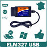 ELM327 USB v1.5  Interface de diagnostic multimarque OBDII Scanner PC Windows