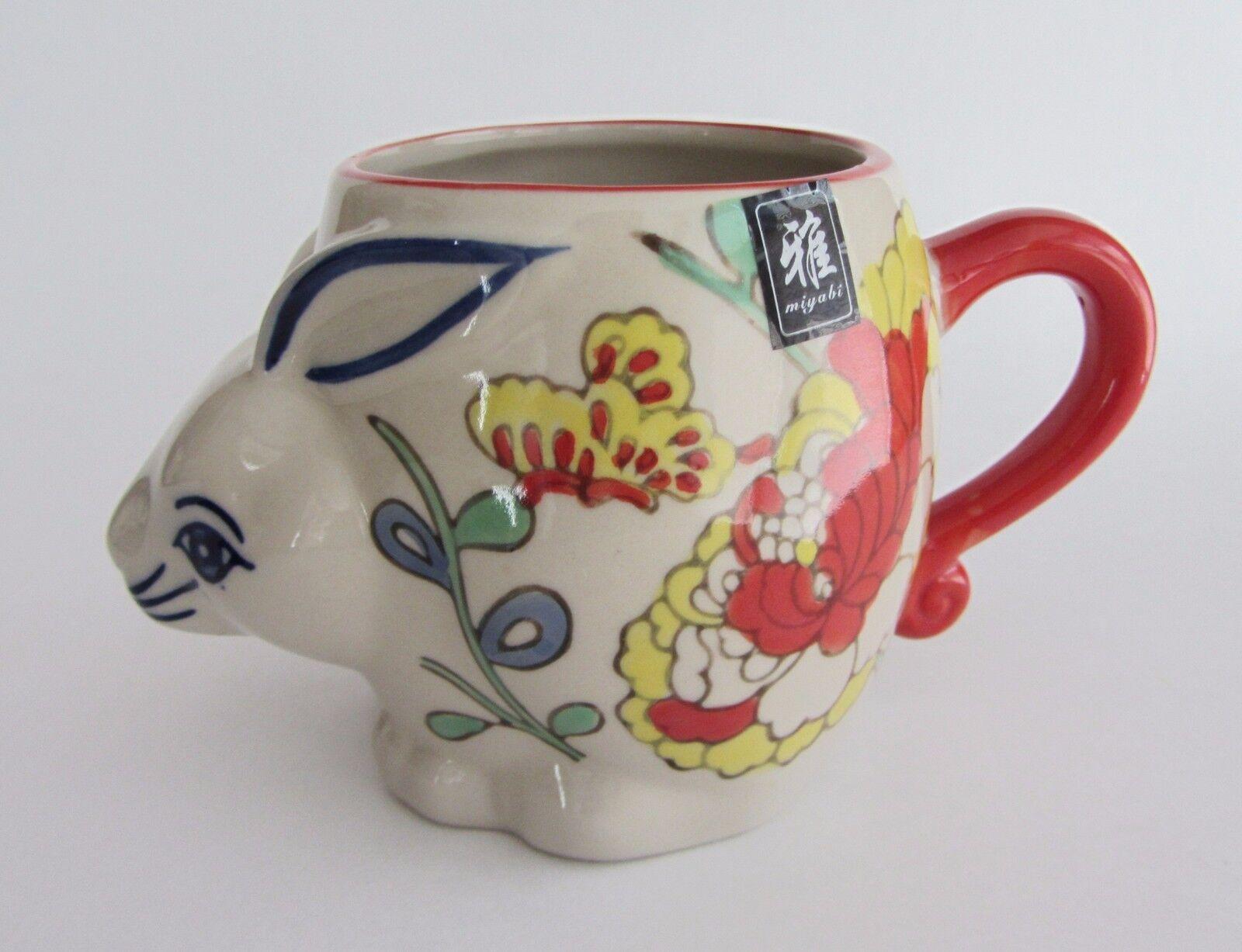 3 x Couleurful Yokohama Studio Miyabi Hand Painted 3D Coffee Mug Cup Rabbit Bunny