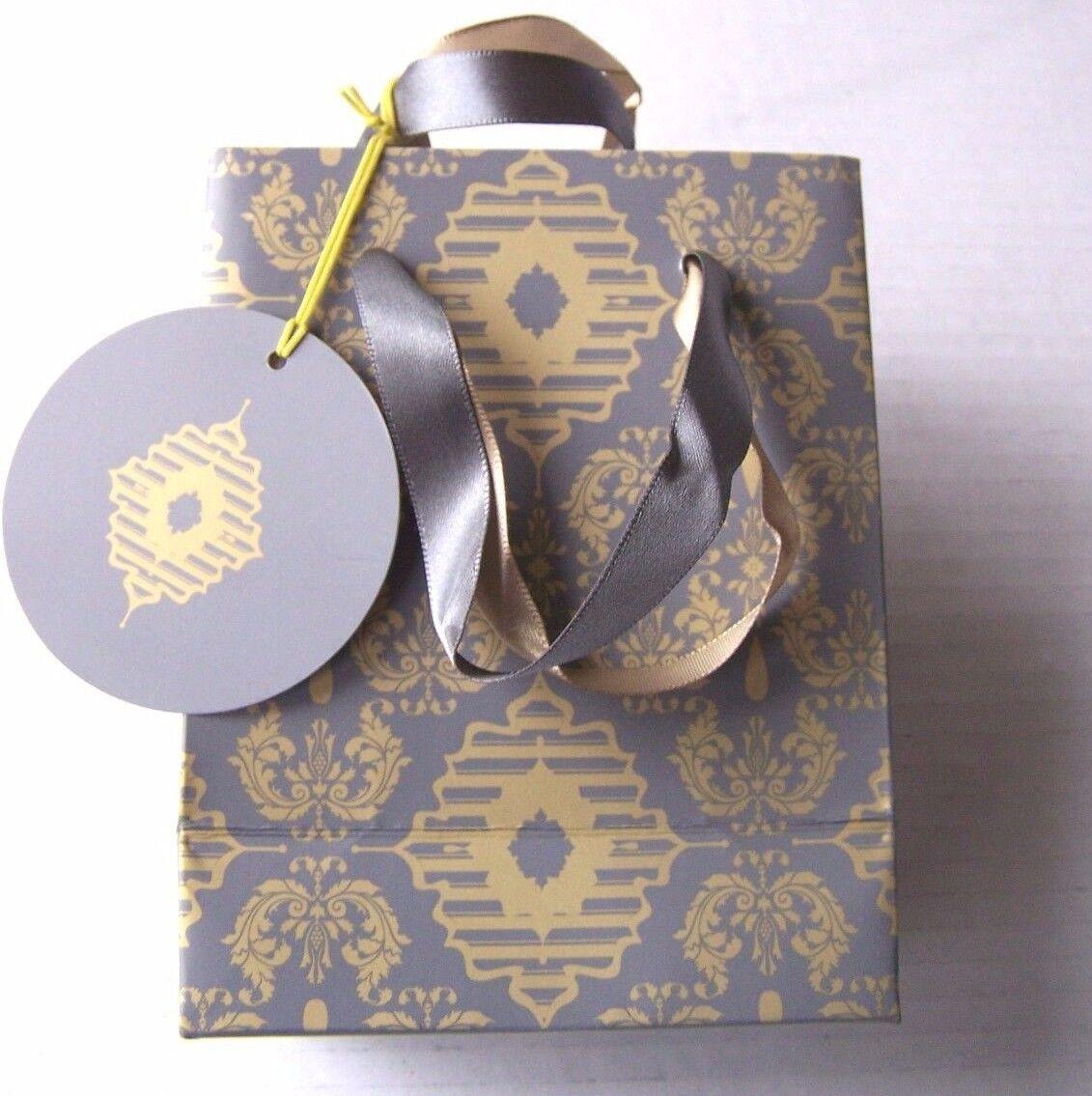 LUXURY GRIGIO E oro borsa regalo Presentazione regalo BOX BOX BOX 1 5 10 25 50 aa00c4