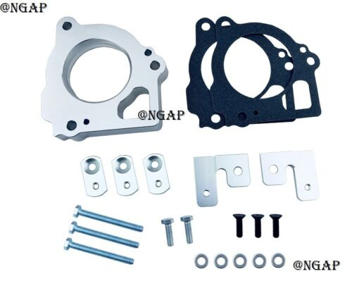 Silver Billet Throttle Body Spacer Fit 1999-2002 Jeep Grand Cherokee 4.7L V8