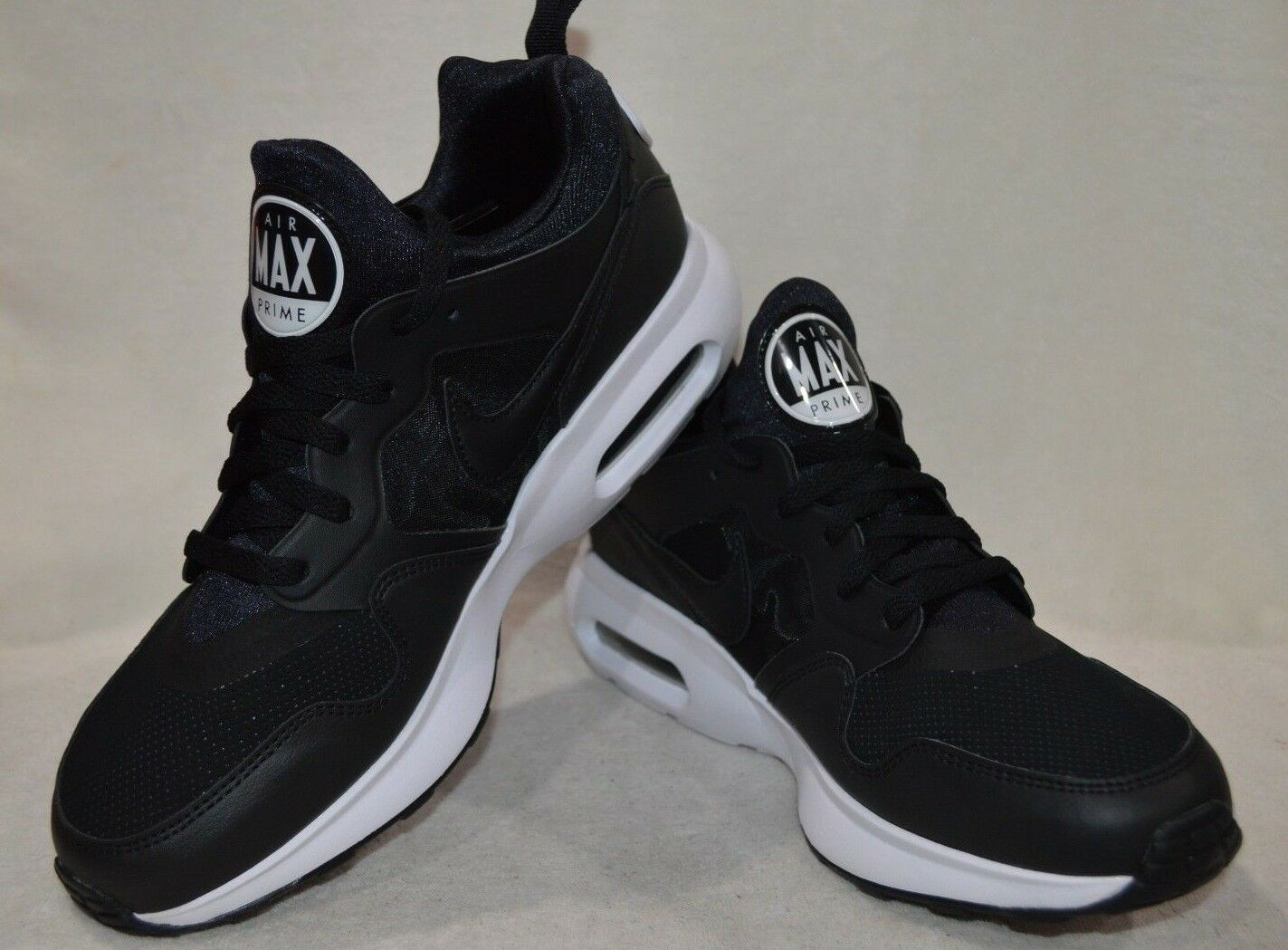 7b4ba8f62f Nike Air Max Prime SL Black White Men Running shoes-Assorted Size NWB  876069-