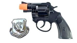 Super Cap Toy Gun DETECTIVE SPECIAL Revolver 8 Shot Ring Caps Pistol + Badge