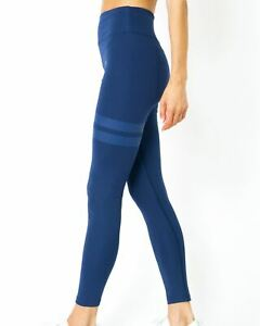Simple-as-ABC-Compression-Leggings-Sports-Yoga-Workout-Gym-Performance-Navy