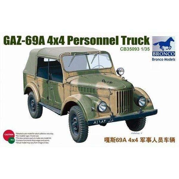 Bronco 35093 GAZ69A 4WD Personalbil 1  35 modellllerlerl i plastskala
