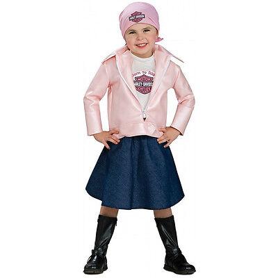 Lil' Biker Babe Harley-Davidson Pink Jacket Halloween Toddler Child Costume
