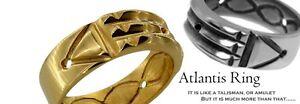 Discret Atlantis Ring Grand Amulette Talisman Pharaons N2 Argent Sterling 925 Taille 6-15-afficher Le Titre D'origine