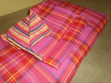 TOMMY HILFIGER NATE PINK (3PC) FULL/QUEEN DUVET SET ORANGE YELLOW PLAID MADRAS