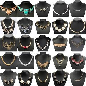 Fashion-Charm-Crystal-Chain-Choker-Bib-Statement-Pendant-Chunky-Necklace-Jewelry