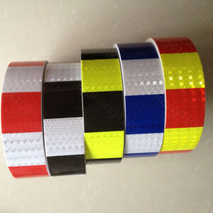 Square Safety Reflective Self Adhesive Caution Warning Tape Sticker Width 5cm 2/""