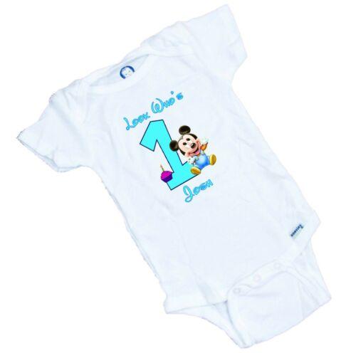 Romper LOOK Who/'s One Tee Shirt Personalized Custom printed onesie