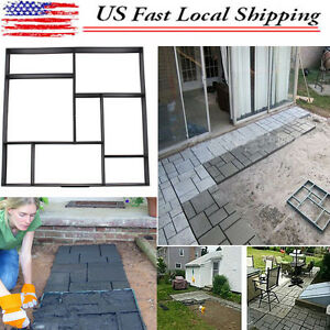 Image Is Loading DIY Driveway Walk Maker Paving Patio Concrete Slabs