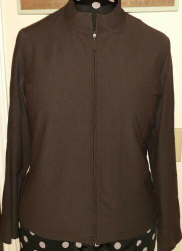 Eileen FISHER brown Zip Jacket/top Large L