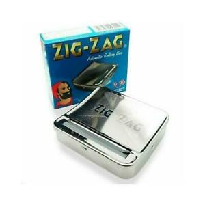 Zig Zag Automatic Cigarette Tobacco Smoking Rolling Machine Case Tin Box BNIB UK