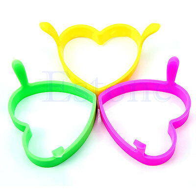 Kitchen Heart Silicone Egg Fry Frier Fried Oven Poacher Pancake Ring Mould Tool