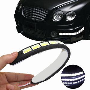 2x-20W-Waterproof-10-SMD-LED-12V-Daytime-Running-Lights-Flexible-DRL-Strip-Lamp