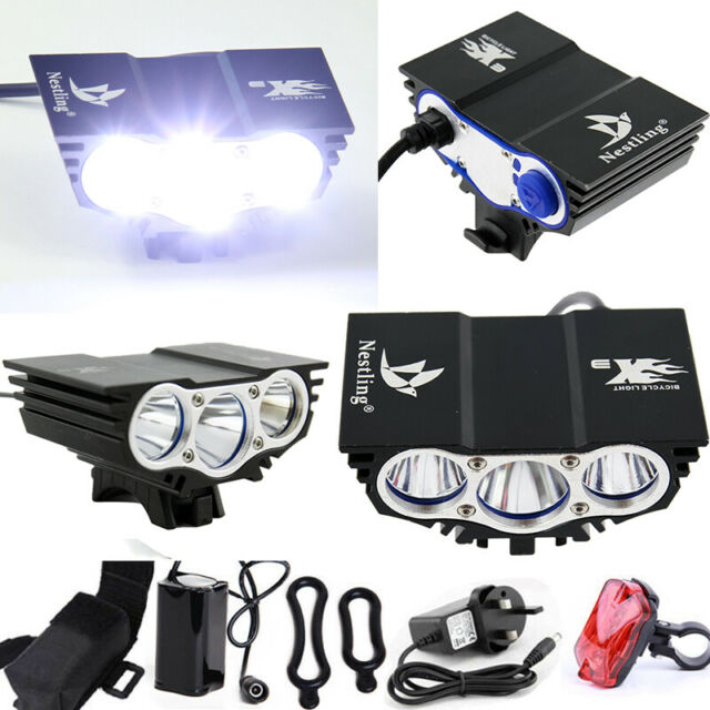 6600lm Bicycle Riding Light Bike Cycling Front Lamp LED Headlamp with Battery