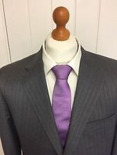 Mens *NEW* AUTHENTIC GIEVES & HAWKES WOOL SUIT In GREY PINSTRIPE 42S *B.N.W.T*