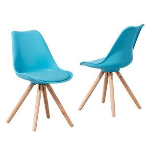 Das Bild Wird Geladen Stuhl Clara 2er Set Schalenstuhl Tuerkis  Skandinavisches Design